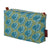 Graphic Apple Tree Pattern Printed Cotton Canvas toiletry, wash, cosmetic and travel Bag in Antique Moss Green and Petrol Blue water resistant ships from Canada (USA)