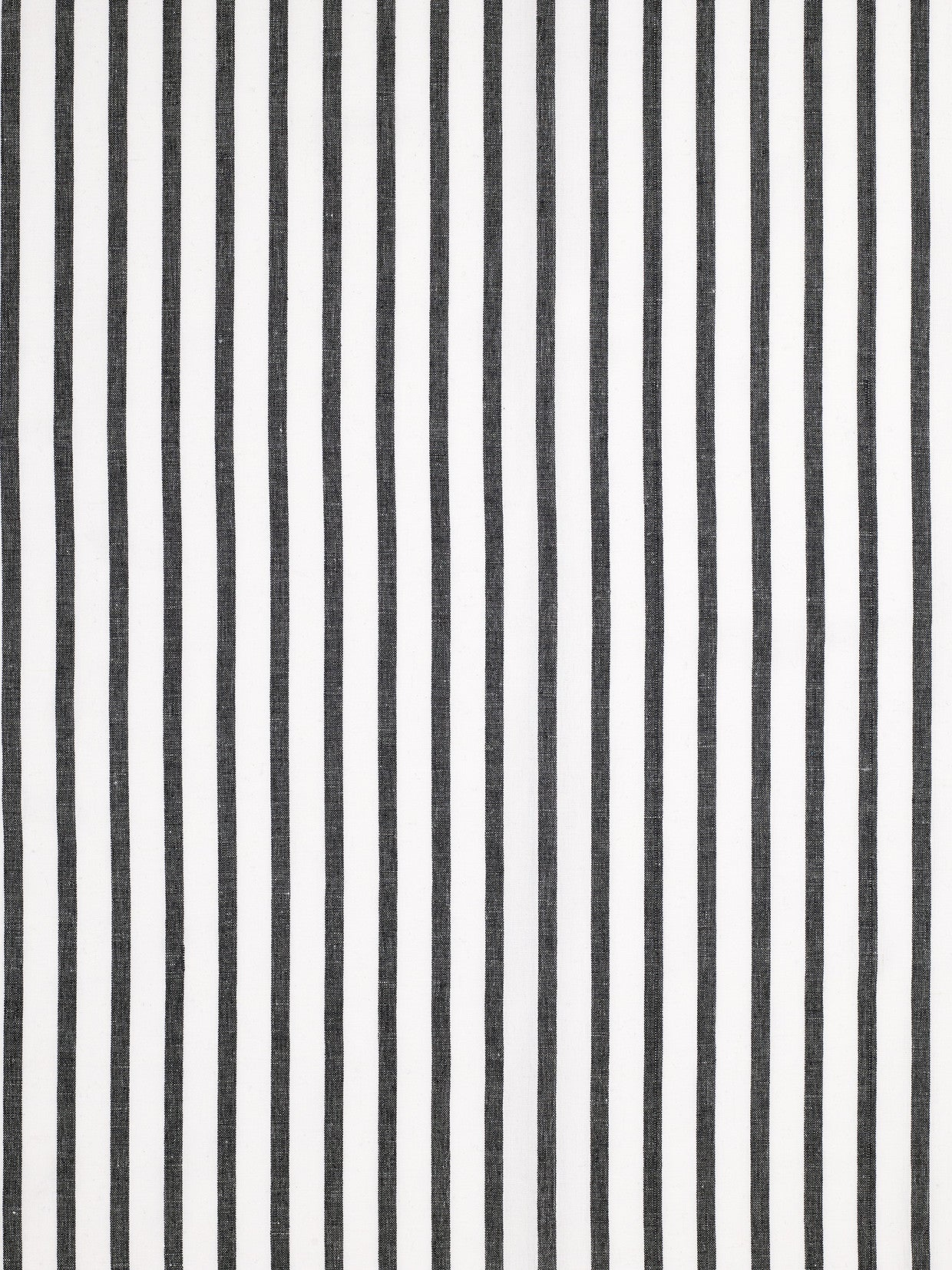 Autumn Ticking Stripe Cotton Linen Fabric by the Meter in Black