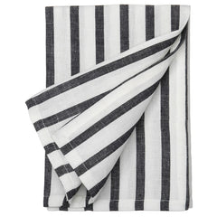 Black and white striped cotton linen napkins etoile home
