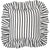 "Autumn Ticking Stripe Ruffle Decorative Throw Pillow in Black 45x45cm (18x18"")"