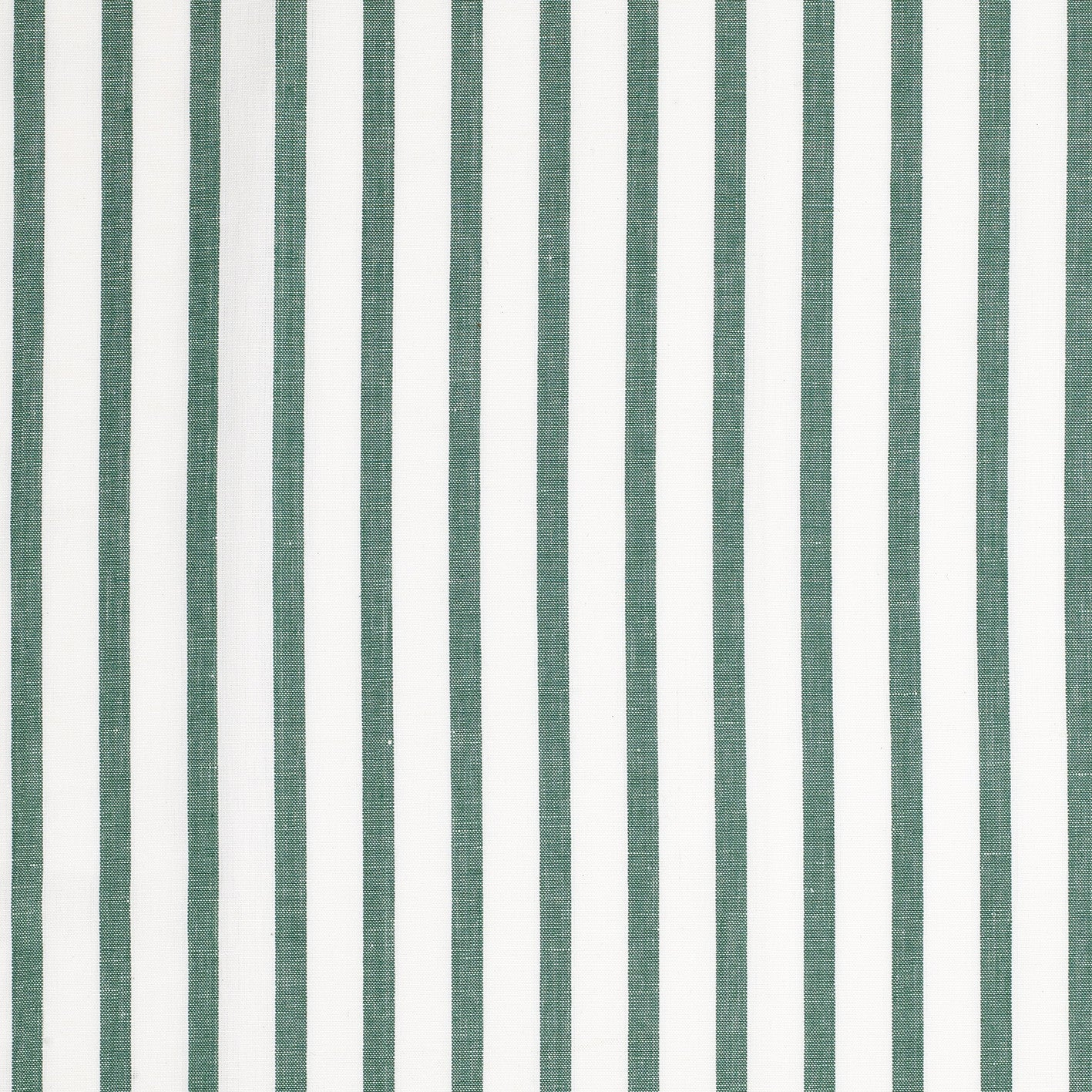 Autumn Ticking Stripe Cotton Linen Fabric by the Meter in Dark Moss Green