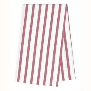Autumn Stripe Tea Towel - Heather Pink