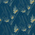 Beakrush floral home decor interiors fabric for curtains, blinds and upholstery in Petrol Blue and SeaFoam green ships from Canada including the USA