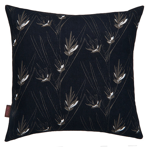 Beakrush-floral-pattern-decorative-designer-throw-pillowin black, grey and white ships from Canada worldwide including the USA