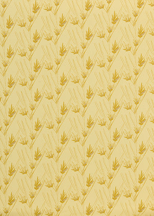 Beakrush floral home decor fabric for curtains, blinds and upholstery in Straw, gold and pink, ships from canada worldwide including the USA