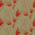 Beakrush floral home decor fabric for curtains, blinds and upholstery in Natural Earth and Geranium red ships from canada worldwide including the USA
