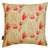 Beakrush floral designer throw pillow in Beige earth and Geranium with Fuchsia Pink made from Cotton and Linen and ships from Canada worldwide including the USA