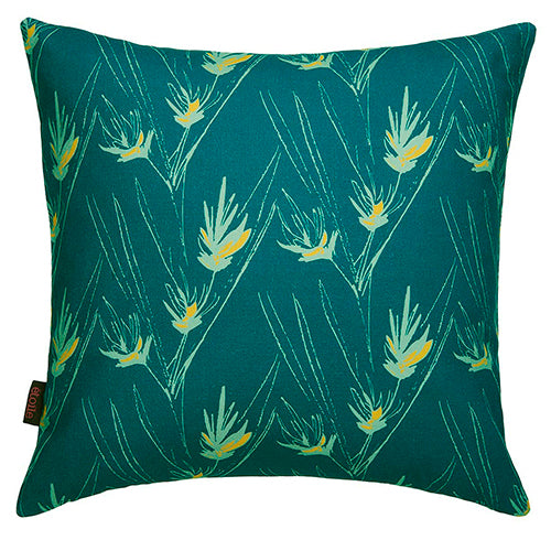 "Beakrush-floral-pattern-throw-pillow-seafoam-green-dark-blue-18""-45cm-canada-usa"
