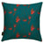 "Beakrush-floral-pattern-decorative-throw-pillowin dark-petrol-blue-geranium-red-canada-usa-18""-45cm"