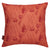 "Beakrush floral cotton linen throw pillow in terracotta orange 45x45cm (18x18"") ships from canada worldwide including the USA"