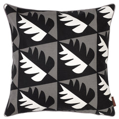 etoile home Betty graphic patterned decorative pillow black, white, grey