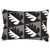 "Betty Geometric Tree Pattern Rectangle Decorative Throw Pillow in Stone Grey with Black 31x46cm (12x18.5"")"