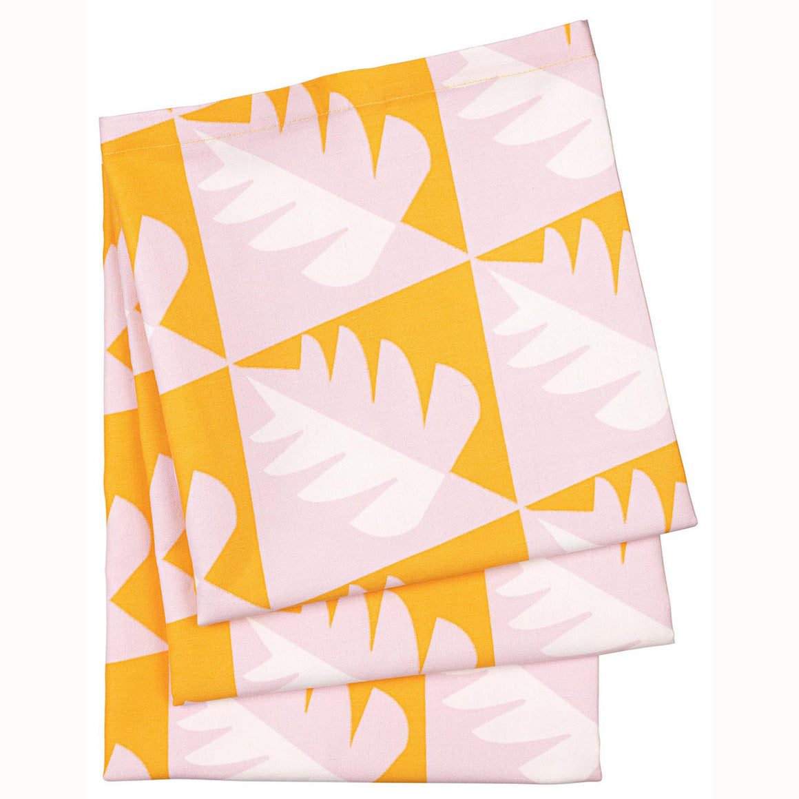 Betty Graphic Geometric Tree Pattern Tablecloth in Saffron Yellow and Pink ships from Canada (USA)