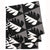 Betty Geometric Tree Pattern Linen Tablecloth in Stone Grey and Black Ships from Canada (USA)