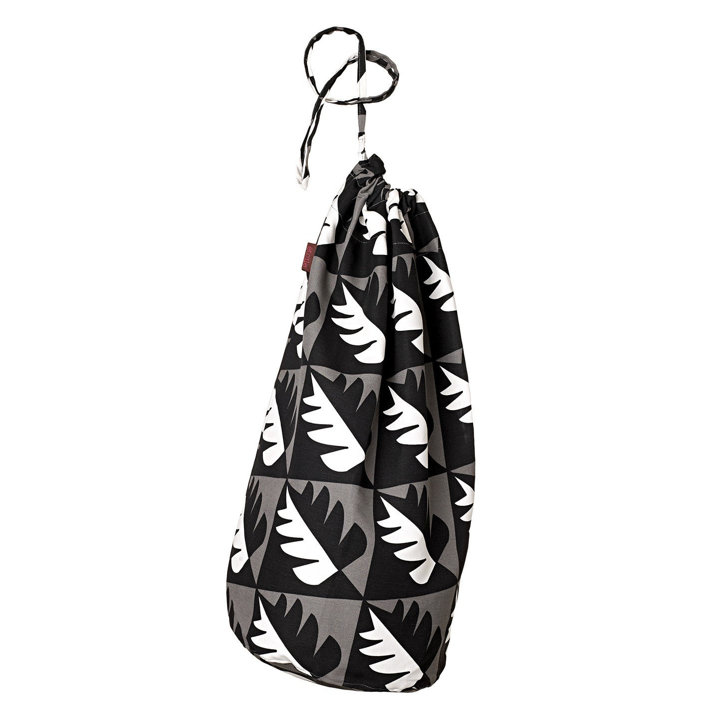 Betty Tree Pattern Linen Cotton Drawstring Laundry & Storage  Bag in Stone Grey & Black ships from Canada (USA)