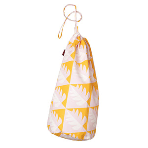 Betty Tree Pattern Linen Cotton Drawstring Laundry & Storage  Bag in Saffron Yellow & iPink ships from Canada (USA)