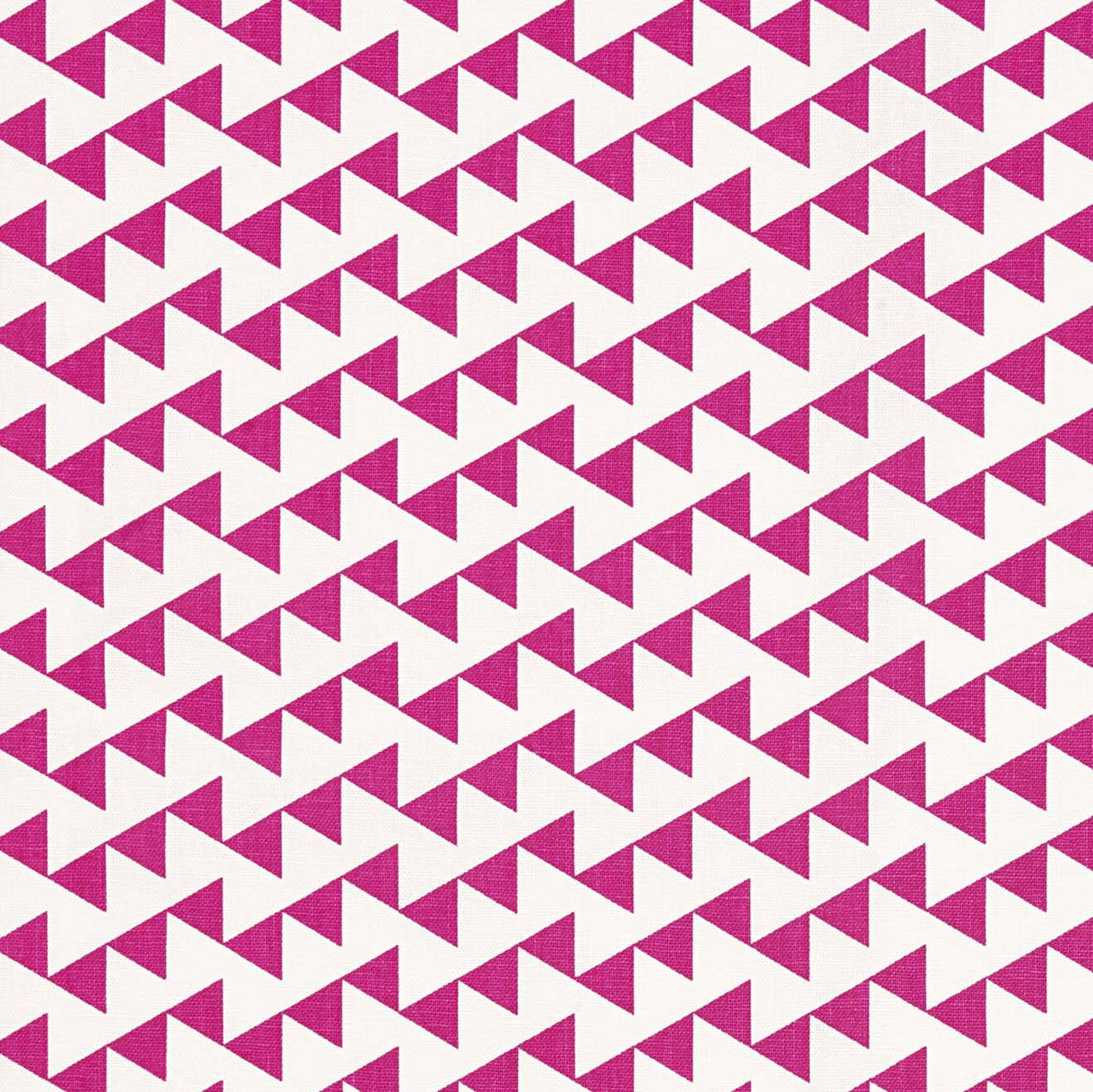 Bunting Geometric Pattern Cotton Linen Fabric Bright Fuchsia Pink