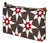Cadiz Geometric Star Pattern Canvas Wash toiletry, cosmetics, shaving Travel Bag - Stone Grey & Geranium Red Ships from canada (USA)
