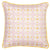 Dorothy Geometric Pattern Cushion in Light Tea Rose Pink 45x45cm
