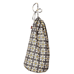 Dorothy Geometric Pattern Linen Laundry & Storage Bags - Stone Grey