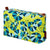 Eden Floral Pattern Printed Cotton Canvas Wash Toiletry Travel  Bag in Chartreuse Yellow & Blue, Turquoise Perfect for all your cosmetics ships from Canada