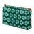 Dark green pattern canvas toiletry travel bag for all your cosmetics stain and water resistant outer and waterproof lining Ships from Canada (USA)