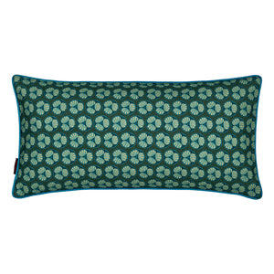 "Graphic Fruit Cross Section Pattern Linen Union Printed Decorative Throw Pillow in Dark Moss Green 12x24"" 30x60cm"