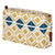 Glasswork Geometric Pattern Canvas Toiletry Travel Bag - Gold / Petrol Blue perfect for all your cosmetics, shaving, wash kit ships from Canada