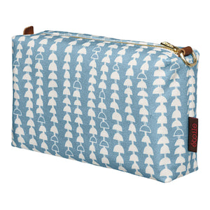 Hopi Graphic Pattern Canvas Toiletry Travel or wash Bag Light Chambray Blue Ships from Canada Perfect for cosmetics, shaving and wash kit (USA)