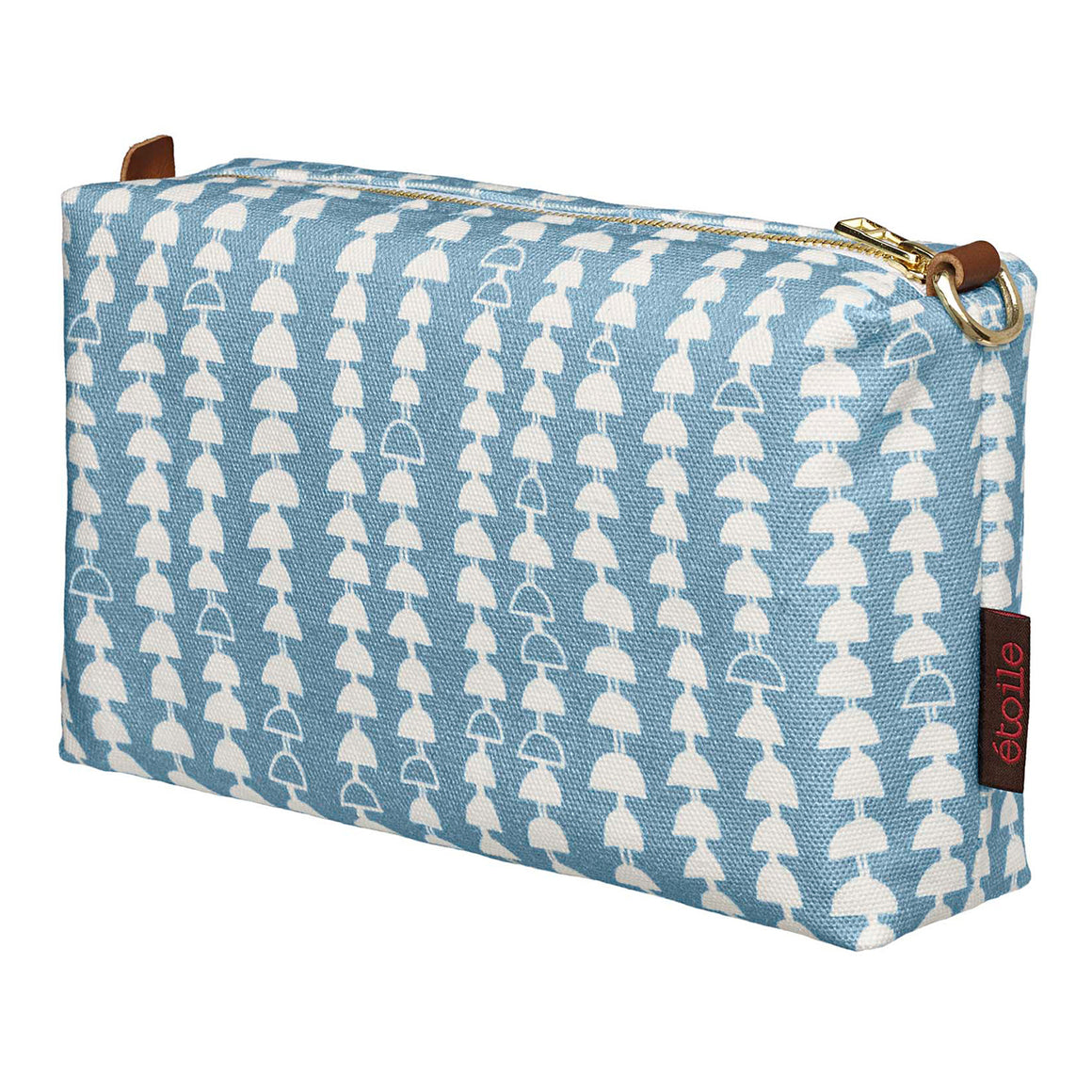 Hopi Graphic Pattern Canvas Toiletry Travel Bag Light Chambray Blue Ships from Canada Perfect for cosmetics, shaving and wash kit