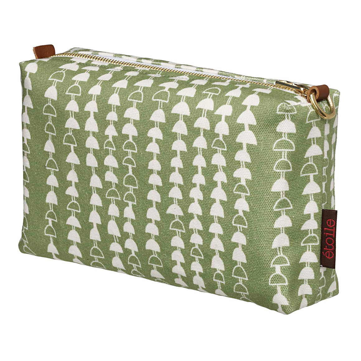 Hopi Graphic Pattern Canvas Toiletry Travel Bag in Light Avocado Green Ships from Canada Perfect for cosmetics, wash and shaving kit