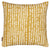 Hopi Graphic Patterned Linen Decorative Throw Pillow in Mustard Gold 45x45cm 18x18""