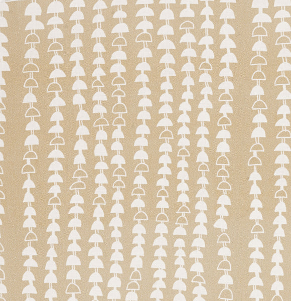 Hopi Graphic Strung Bead Pattern Linen Cotton Fabric in Off White Earth