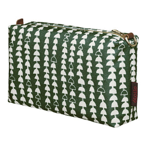 Hopi Graphic Pattern Canvas Wash or Toiletry Travel Bag in Dark Moss Green Perfect for all your cosmetics and beauty items Ships from Canada (USA)