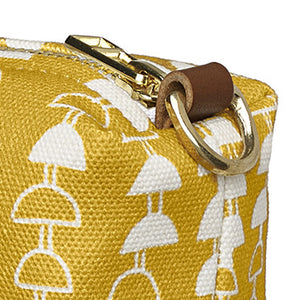 Hopi Graphic Pattern Canvas Wash Bag in Mustard Gold