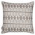 Tiki Huts Pattern Linen Throw Pillow Cushion in Light Dove Grey 45x45cm Ships from Canada worldwide including the USA