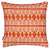 Tiki Huts Tropical Pattern Cotton Linen throw pillow Cushion 45x45cm in Bright Pumpkin Orange ships from Canada worldwide including the USA