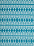 Tiki Huts Pattern Cotton Linen Home Decor Fabric by the meter or by the yard in Bright Turquoise Blue for curtains, blinds, upholstery ships from Canada (USA)