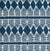 Tiki Huts Pattern Cotton Linen Home Decor Fabric by the meter or by the yard in Dark Petrol Blue (Navy) for curtains, blinds, upholstery ships from Canada (USA)