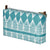 Tiki Huts Pattern Canvas Wash or toiletry travel Bag in Turquoise Blue Perfect for all your beauty and cosmetics needs while travelling Ships from Canada (USA)