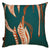 Kelp-seaweed-pattern-decorative-designer-throw-pillow-cotton-linen-dark-blue-red-canada-usa-55cm-22""