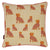 "Graphic Leopard Pattern Linen Union Printed Decorative Throw Pillow in Coral Pink, Pumpkin and Mustard Yellow 45x45cm (18x18"")"