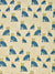 Graphic Leopard Pattern Printed Linen Cotton Canvas Home Decor Fabric by the meter or by the yard for curtains, blinds, upholstery in Petrol Blue, Winter Blue and Mustard Yellow ships from Canada (USA)
