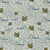 Graphic Leopard Pattern Printed Linen Cotton Canvas Designer Home Decor Fabric in Petrol Blue and Gold by meter or yard for curtains, blinds, upholstery ships from Canada (USA)