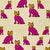 Graphic Leopard Pattern Printed Linen Cotton Canvas Home Decor Fabric by the meter or the yard for curtains, blinds-upholstery in Fuchsia Pink & Mustard Yellow ships from Canada (USA)