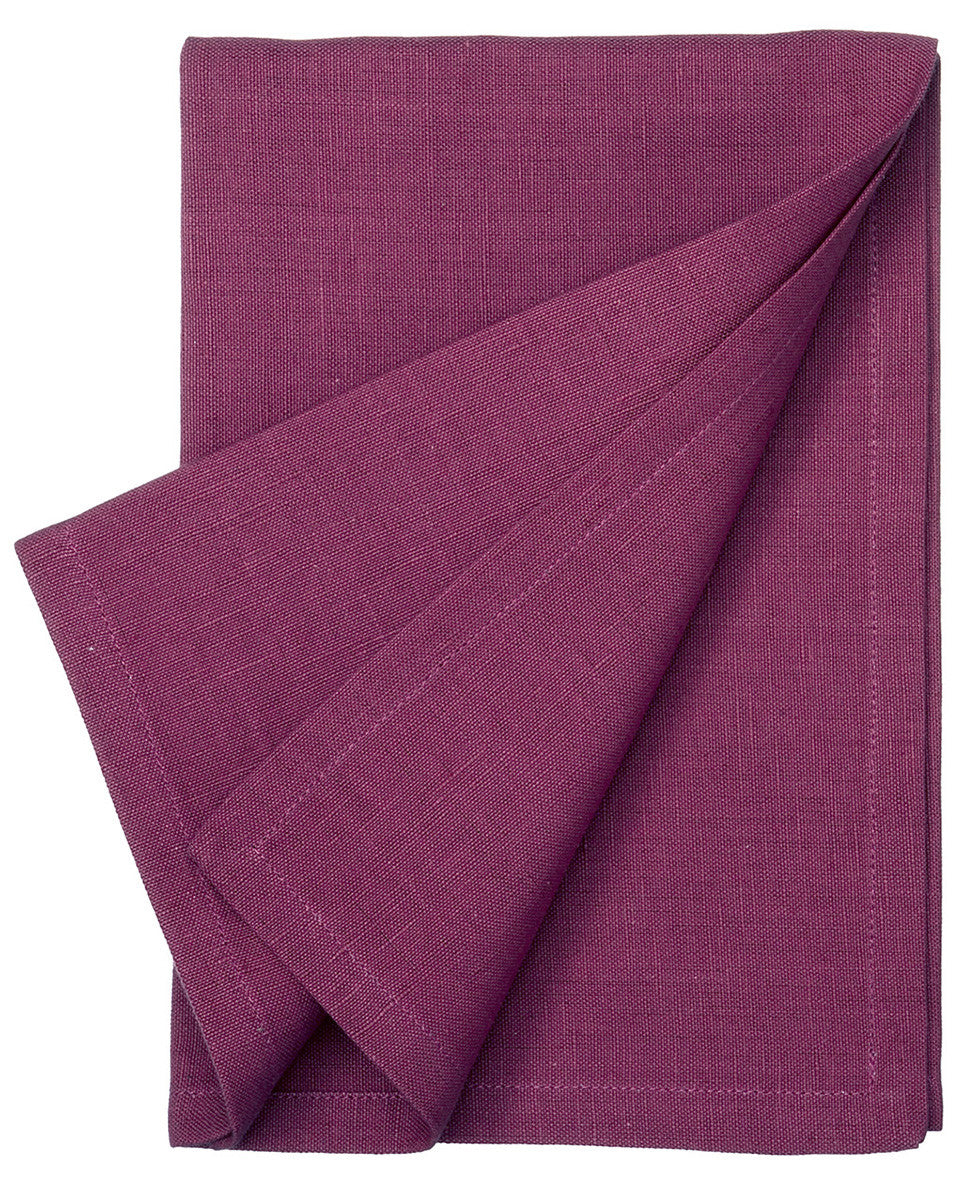 Cotton Linen Union Napkins in Burgundy Pink