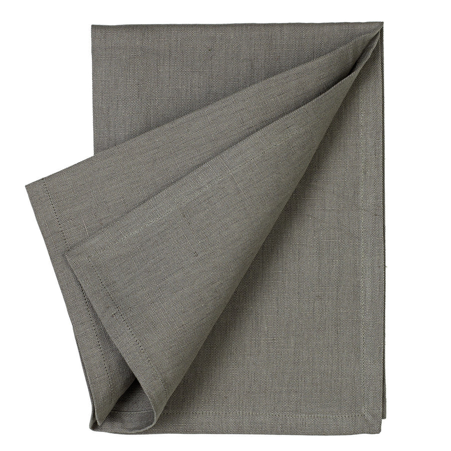 Cotton Linen Union Napkins in Stone Grey
