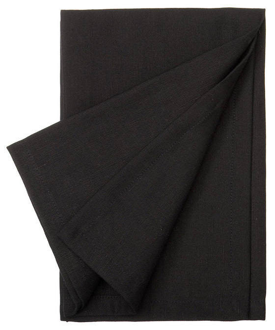Cotton Linen Union Napkins in Black