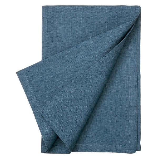 Linen Union Napkins in Petrol Blue