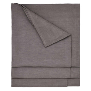 Solid Dyed Linen Union Tablecloth in Stone Grey